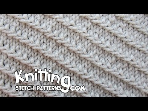 Diagonal Slip Stitch Youtube