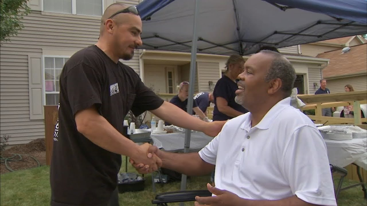 Laborers transform house in 12 days for Man who lost legs In Accident..