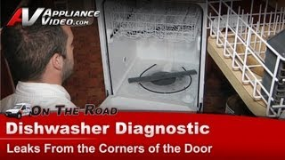 Maytag, Kenmore & KitchenAid  Dishwasher Diagnostic - Leaks From the Corners of the Door