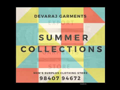 DEVARAJ GARMENTS - SUMMER COLLECTIONS