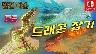 [젤다:야숨 닌텐도스위치] 모든 드래곤 위치와 공략법 돈벌기 - All Dragons(Naydra, Dinraal, Farosh)Zelda Botw