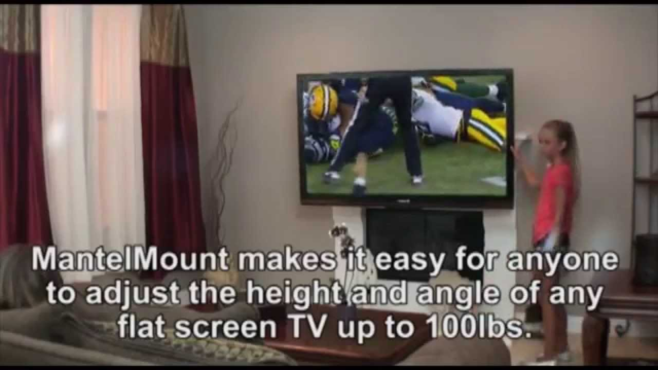 mantelmount the best pull down over the fireplace tv mount youtube