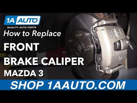 How to Replace Front Brake Caliper 03-09 Mazda 3