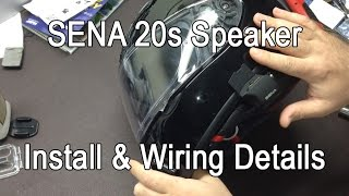 SENA 20s And Shoei RF1200 Speaker Wiring Details