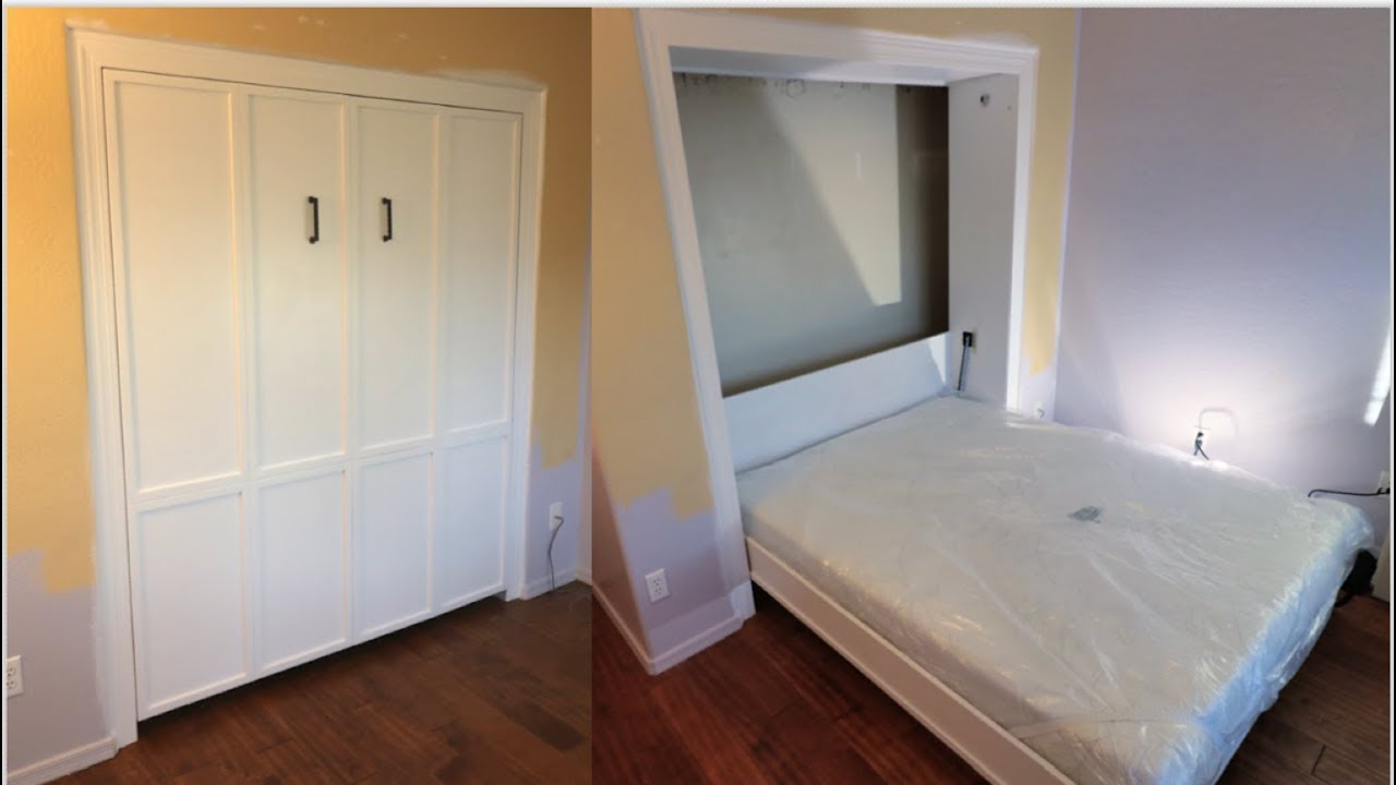murphy bed in a closet diy