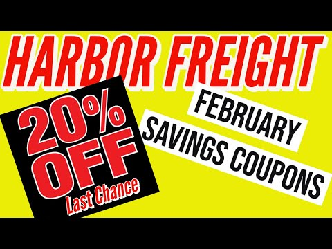 Harbor Freight Coupons February 2021 - 20% Off Super Discount Coupon and BIG CHANGES!