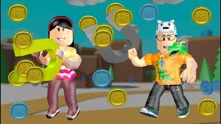 ROBLOX: MY MOTHER AND I IN: WHO CATCH MORE MONEY WINS!! -Play Old man