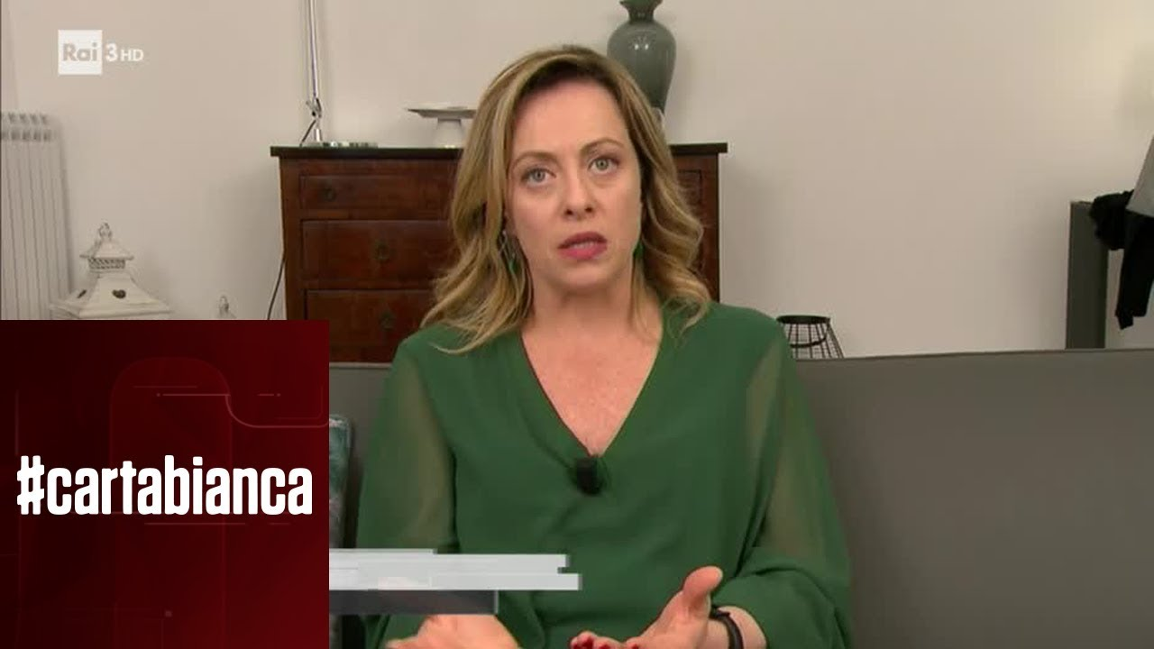 Giorgia Meloni Cartabianca 28 05 2019 Youtube