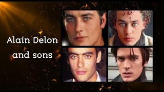 Alain Delon and sons | morphing |  Ari Boulogne, Anthony Delon, Alain-Fabien Delon