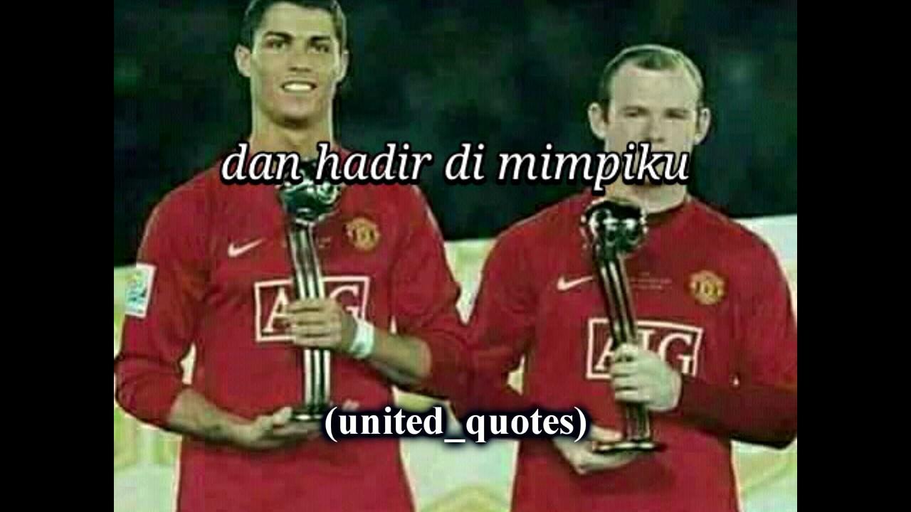 Virzha Tentang Rindu Lirik Dengan Gambar Pemain Manchester United