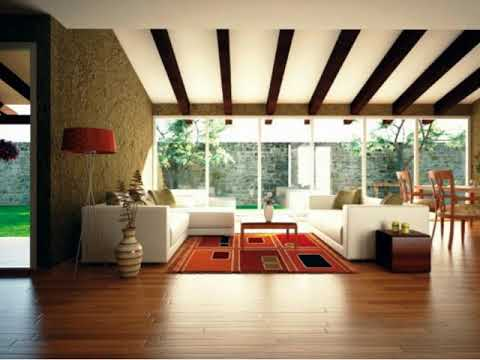 Living Room with Wood Beam Ceiling ideas