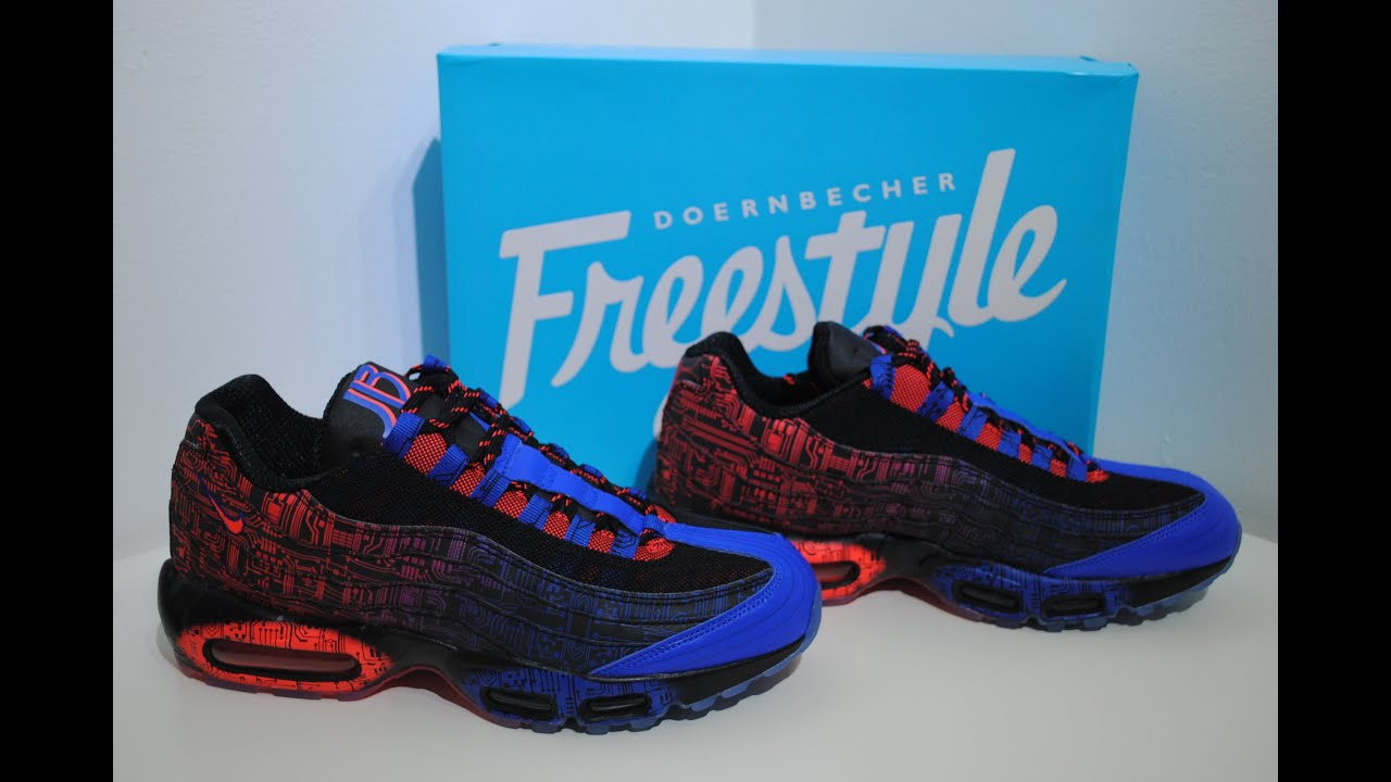7dec2005bf9aa2 Nike Air Max 95 Premium DB Doernbecher Crime Clothing Product Presentation