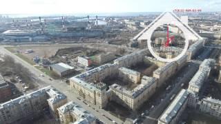 Видео с высоты, Санкт-Петербург, Недвижимость, улица зайцева,