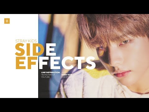 Stray Kids - Side Effects Line Distribution (Color Coded)