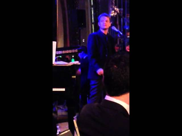 Jake Simpson singing at the iconic Rainbow Room in New York City!