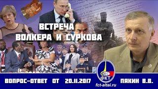 Валерий Пякин. Встреча Волкера и Суркова