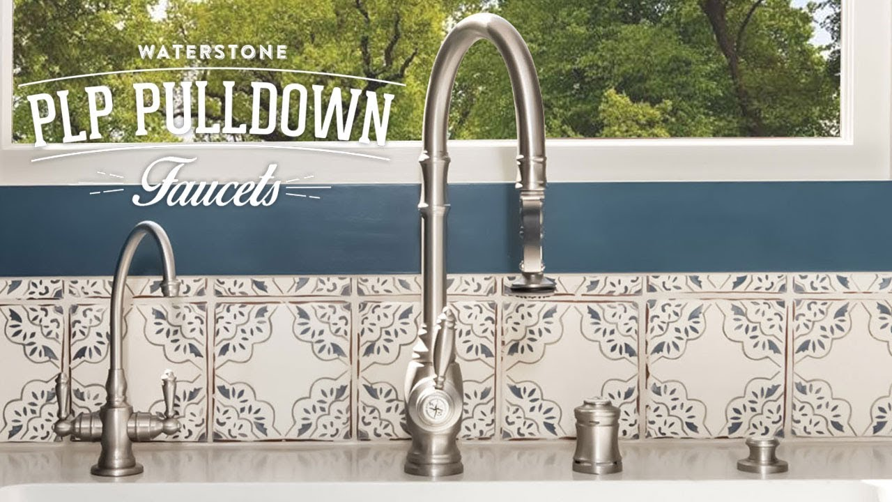 Waterstone Traditional PLP Pulldown Faucet - YouTube