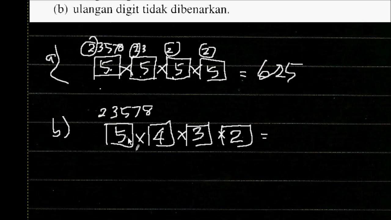 Pilihatur Add Math F5 Bab 6 Latihan Formatif 6 1 Youtube