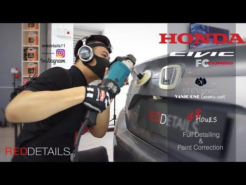 "Honda Civic FC "" Lunar Silver Metallic "" Full Detailing & Paint Correction"