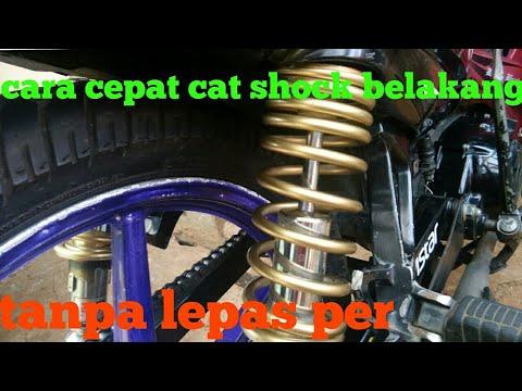 Cara Cat Shockbreaker Belakang