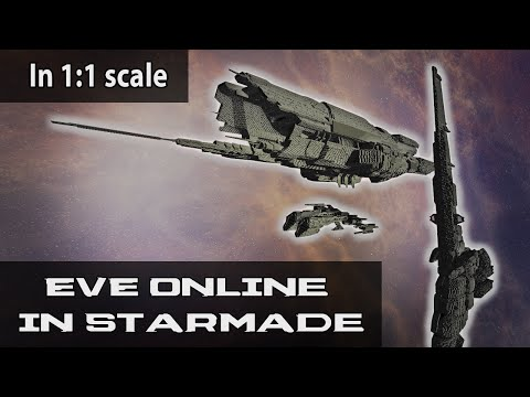 First Look at EVE Online Ship Models in StarMade | 1:1 Scale