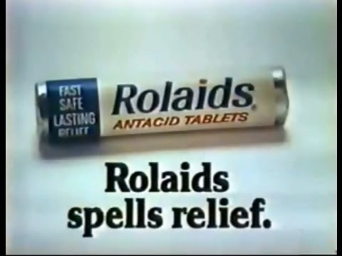 Rolaids 39 Spells Relief 39 Commercial 2 1976 Youtube