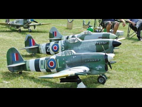① WILLIS WARBIRDS FIGHTER MEET AT LITTLE GRANSDEN RC MODEL AIRCRAFT SHOW -  2014