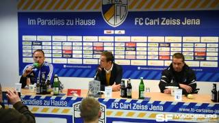 Pressekonferenz - FC Carl Zeiss Jena gegen 1. FC Magdeburg 1:4 (1:2) - www.sportfotos-md.de