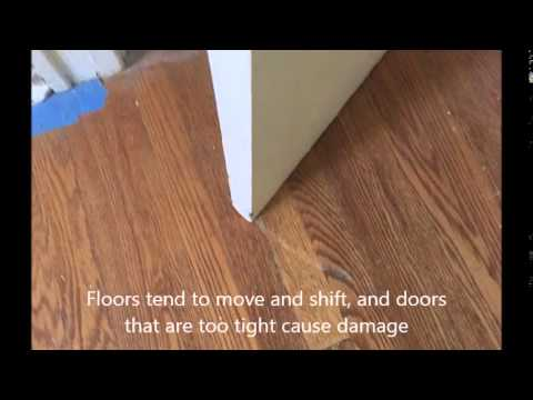 Door Scraping Flooring Youtube