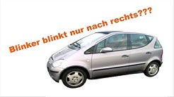 W168 // Mercedes A Klasse // Blinker blinkt falsch, nur nach rechts // only right flasher work //