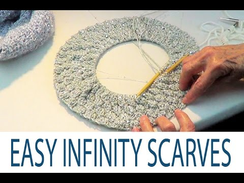 Infinity Scarves: Easy Knitting Patterns - YouTube