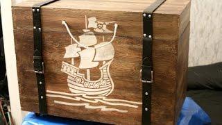 Как сделать  Пиратский деревянный сундук своими руками ?