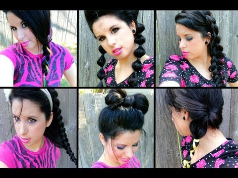 really cute hair styles 7 trendy teen school hairstyles braids bubbles amp bows 1238 | hqdefault