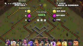 Clash of Clans - TH 11 attack done 3 stars(troop composition strategy)