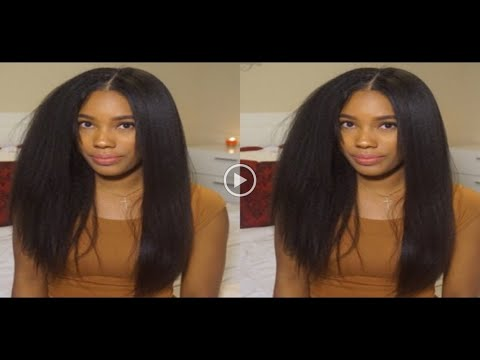 854b41d00d WOWAFRICAN Styling Most Natural Lace Wig Ever! Italian Yaki - YouTube