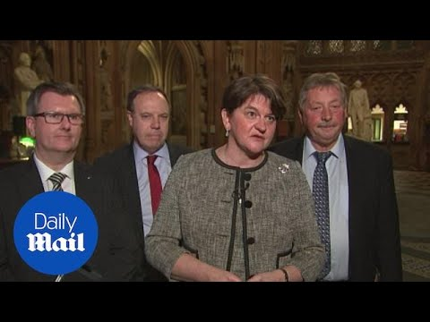 'We wouldn't be able to support it': Arlene Foster on draft Brexit deal