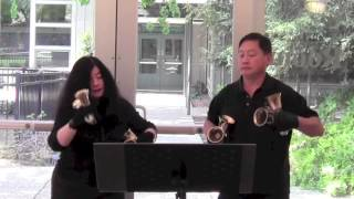 Larry and Carla - When Irish Eyes Are Smiling (Handbell Duet)