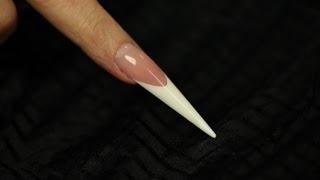 Gel Stiletto nail shape- Step by Step video
