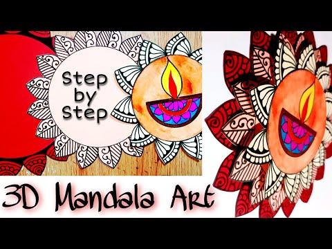Diwali Decoration Ideas 3d Mandala Art Diwali Art A