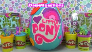 My Little Pony Giant Surprise Egg Made of Play Doh filled with Shopkins and More