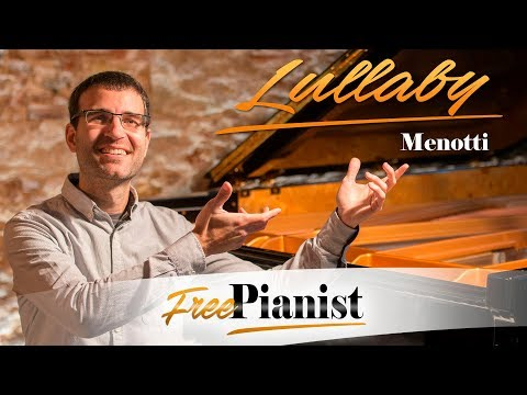 Lullaby - KARAOKE / PIANO ACCOMPANIMENT - The Consul - Menotti