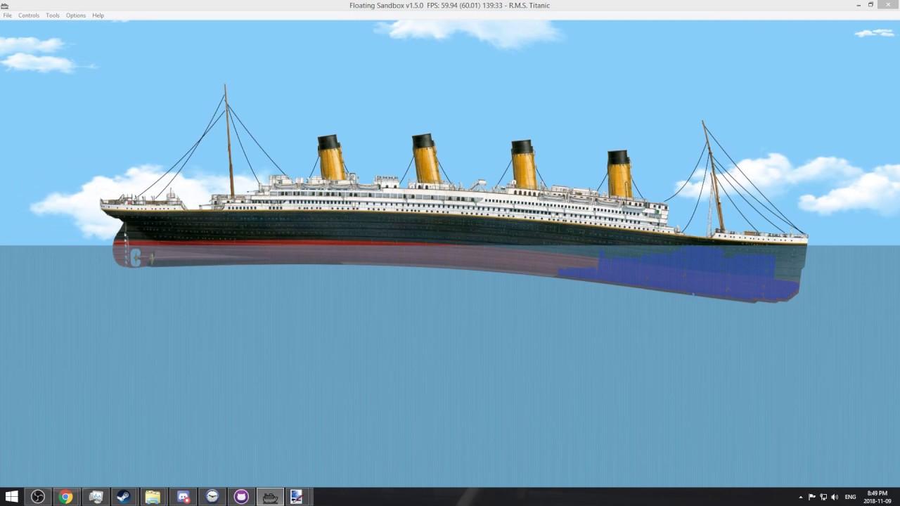 Floating Sandbox: Sinking the Titanic
