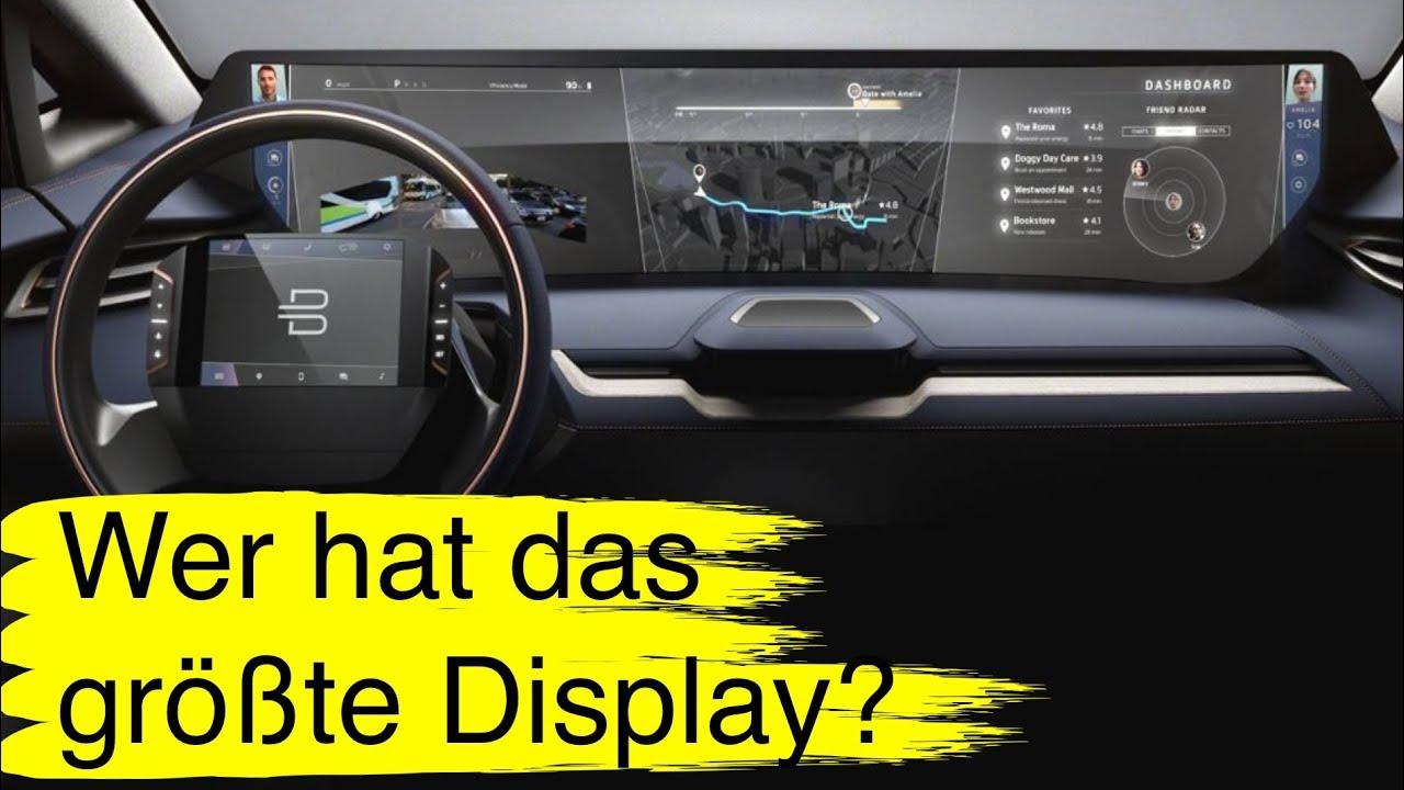 59 berraschung wer hat das gr te display im auto hinweis es ist nicht das tesla model s. Black Bedroom Furniture Sets. Home Design Ideas