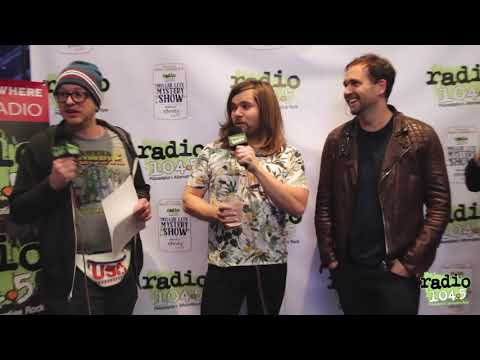 Bastille Interview Backstage at the Radio 104.5 Miller Lite Mystery Show at Xfinity Live!