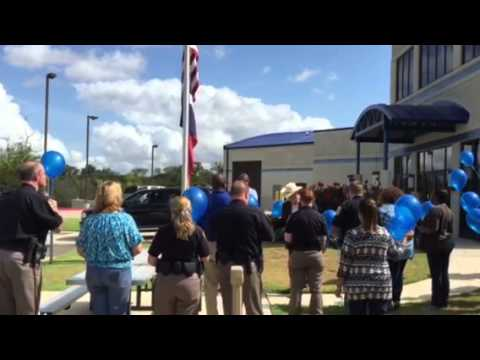 WTAW Darren Goforth balloon launch outside the Brazos County Jail 9/4/2015