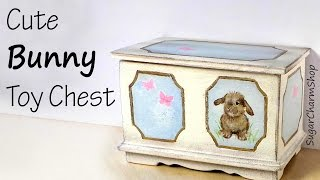 Cute Miniature Bunny Toy Chest Tutorial