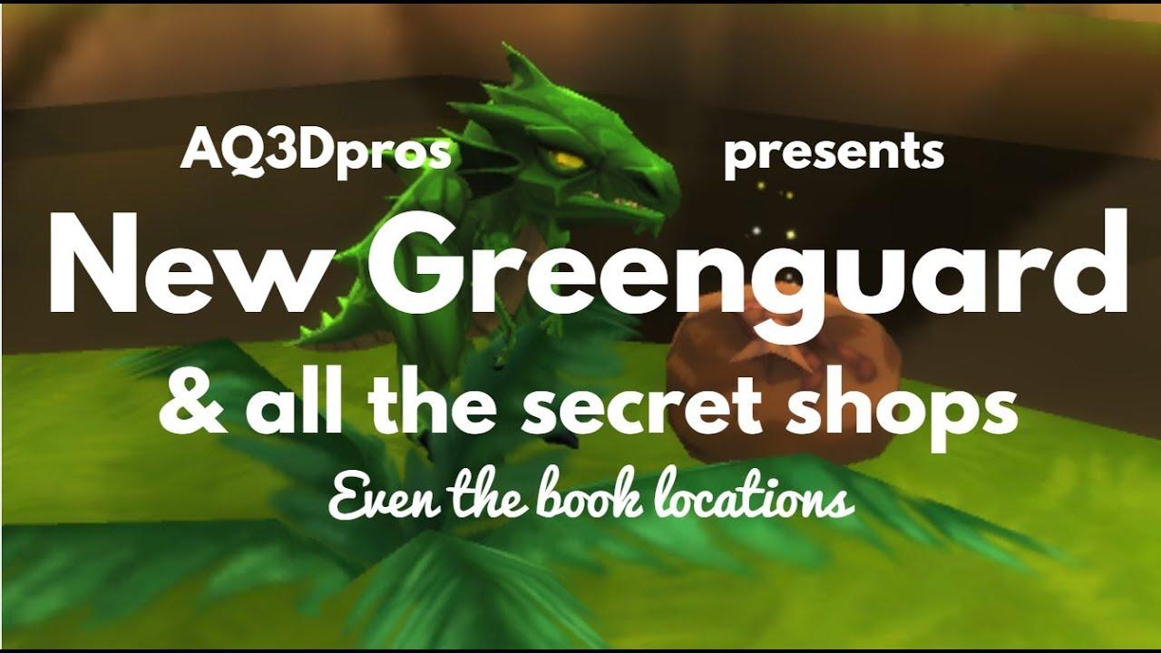 AQ3D Greenguard & all the secret shops(**NOT CLICKBAIT**)