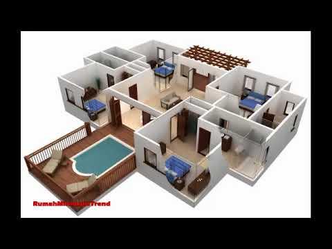 18 Gambar Denah Rumah Minimalis 1 Lantai 3 Kamar Tidur Terbaik