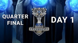 2018 World Championship Quarterfinal Day 1 | KT vs. IG - RNG vs. G2