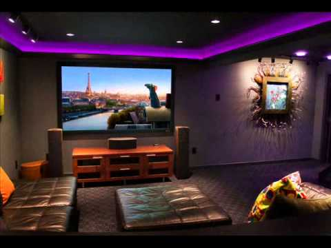 Delightful Basement Home Theater I Basement Bar And Home Theater Photo